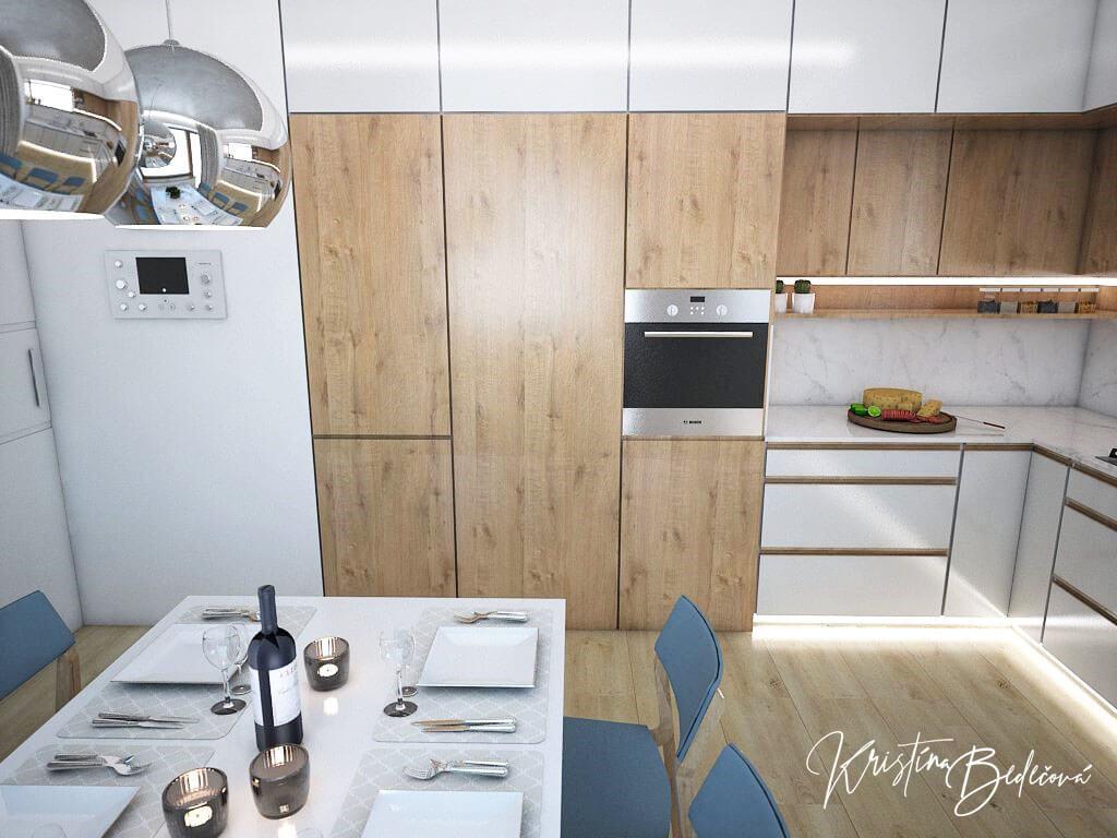 Návrh kuchyne Svet vôní, pohľad na kuchynskú trúbu