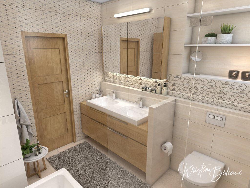 Návrh kúpeľne V novom šate, pohľad na vybavenie kúpeľne