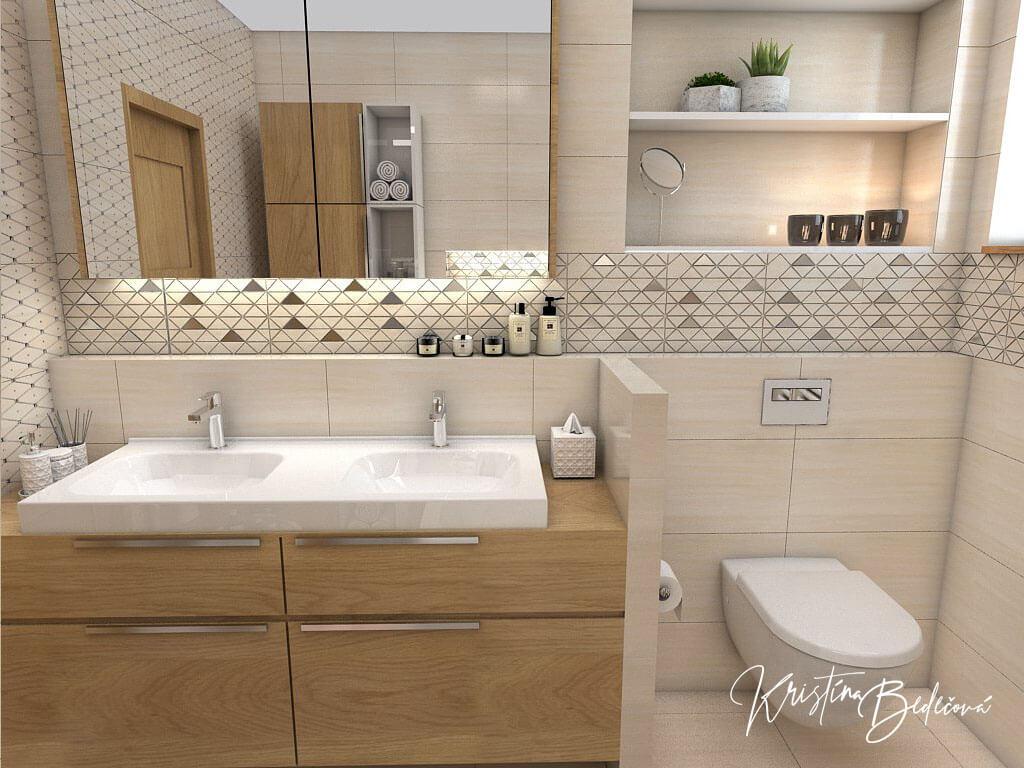 Návrh kúpeľne V novom šate, pohľad na umývadlo