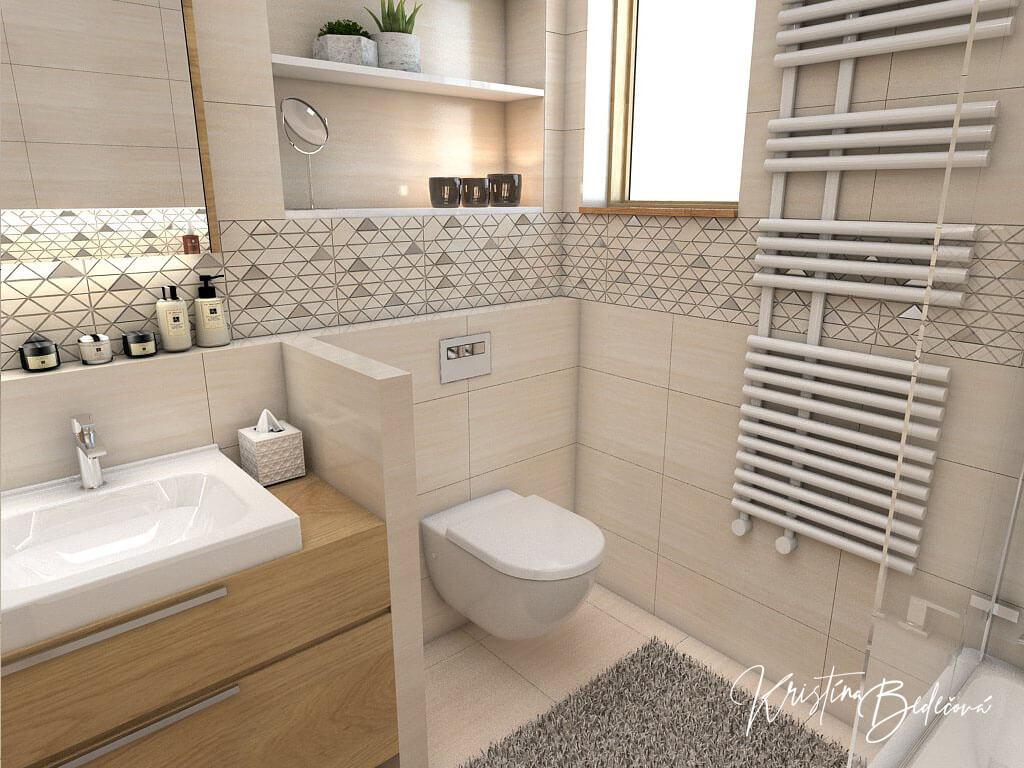 Návrh kúpeľne V novom šate, pohľad na záchod