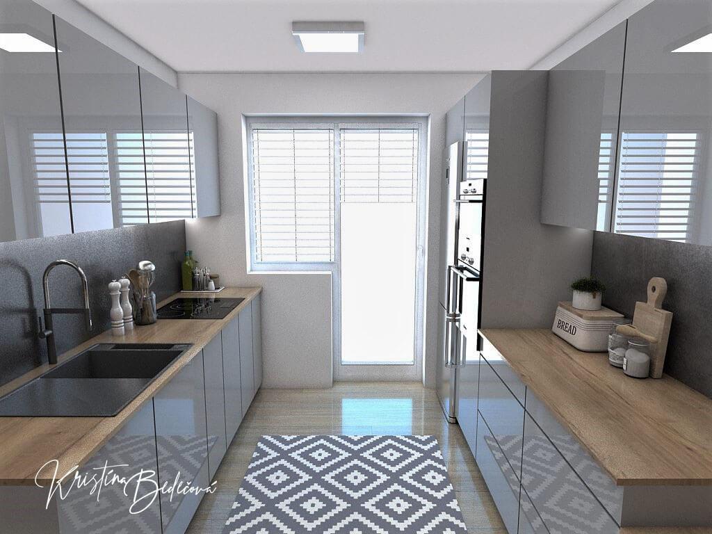 Návrh interiéru kuchyne Malá, no veľká zároveň, pohľad na okno kuchyne