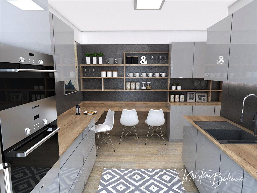Návrh interiéru kuchyne Malá, no veľká zároveň, pohľad do kuchyne od okna