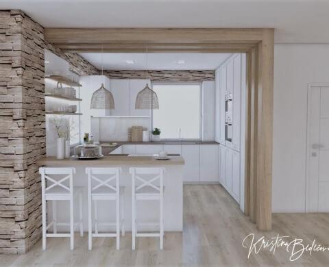 Dizajn kuchyne s rustikálnym nádychom