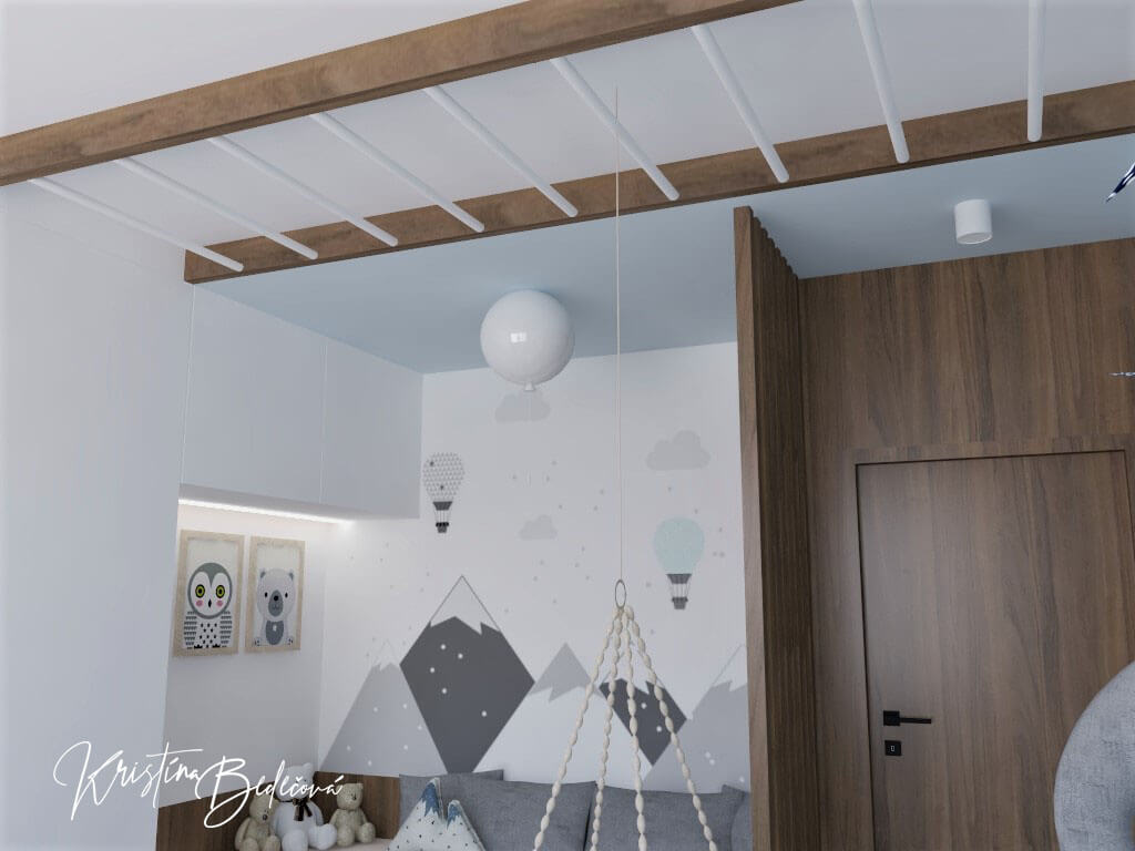 Vizualizácia detskej izby Detský svet, pohľad na vchod do detskej izby